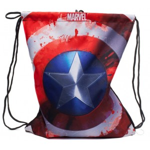 Marvel Captain America Gym Bag - Distressed Shield