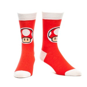 Super Mario Red Mushroom Socks