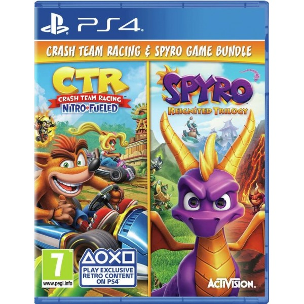 Crash Game Bundle: Team Racing + Spyro Reignited Trilogy