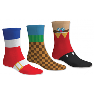 Sonic the Hedgehog Socks [3 Pack]