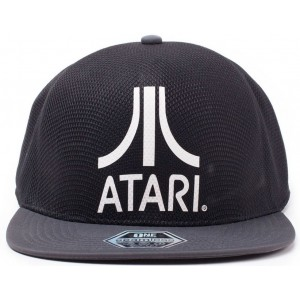 Atari Seamless Cap - White on Black Logo