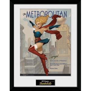 Bombshells Framed Print - Supergirl