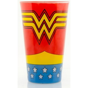 Wonder Woman Coloured Glass
