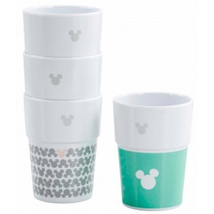 Disney Stackable Mugs - 4-Pack Mickey Pastel