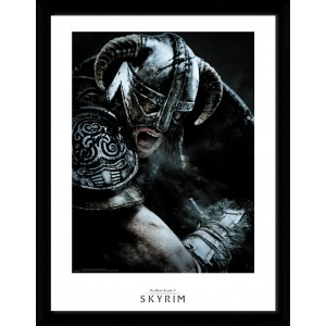 Skyrim Framed Print - Attack