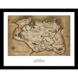 Skyrim Framed Print - Map