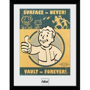 Fallout Framed Print - Vault Forever