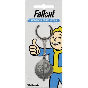Fallout Metal Keyring - Brotherhood of Steel