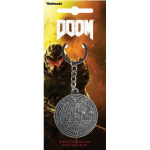 Doom Metal Keyring - Pentagram