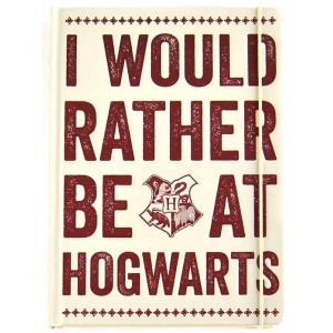 Harry Potter Notebook - I Would Rather Be At Hogwarts