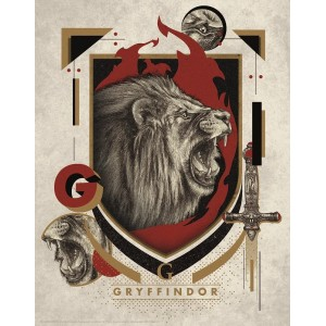 Harry Potter Art Print - Gryffindor Crest