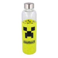 Minecraft Glass Bottle with Silicone Cover