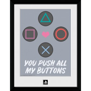 PlayStation Framed Print - Push my Buttons