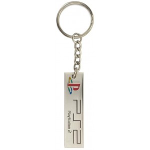 PlayStation Metal Keyring - PS2 Logo