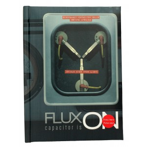 Back to the Future Flux Capacitor Notebook with Light