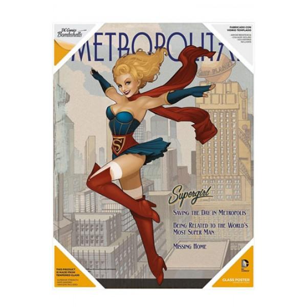 DC Comics Bombshells Glass Poster - Supergirl