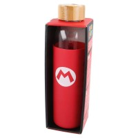 Super Mario Glass Bottle with Silicone Sleeve