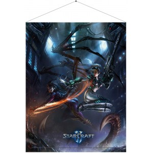 Starcraft Wallscroll - Kerrigan and Nova