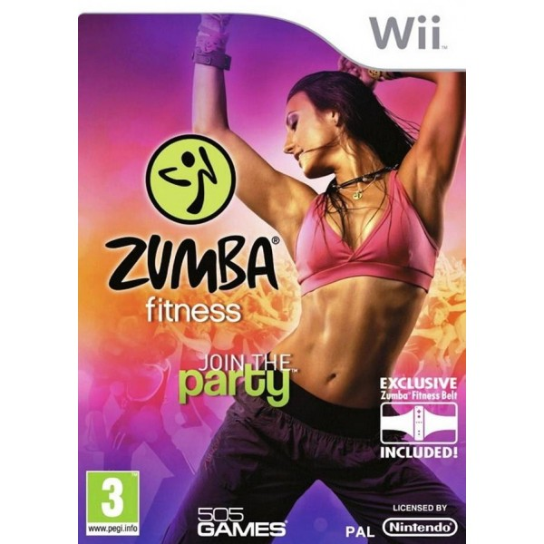 Zumba Fitness: Join the Party + Fitness Belt   Used